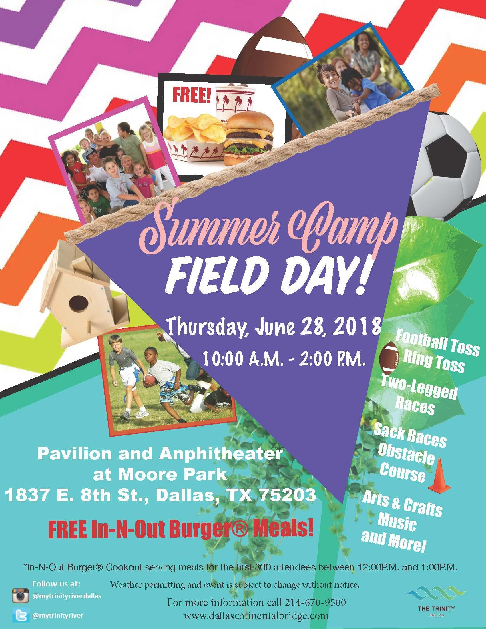 Summer Camp Field Day with Free In-N-Out Burger