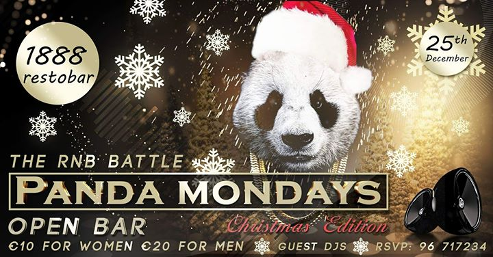 PANDA Mondays THE RNB BATTLEchristmas edition 25dec