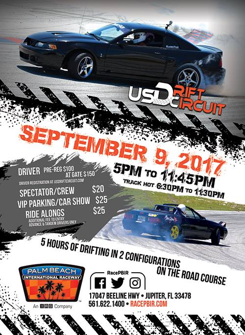 Driver Appreciation Drift Event At Palm Beach International Raceway - Car show jupiter fl