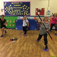 Stretch &amp Tone with weighted bars - as seen in newsletter
