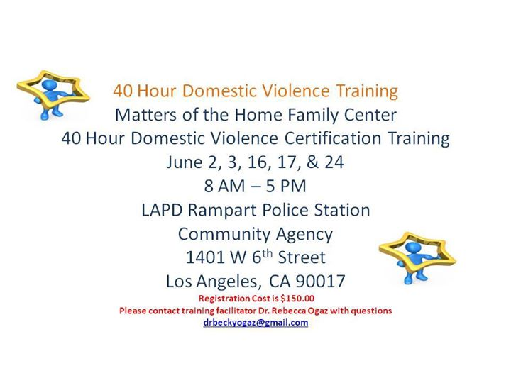 40 Hour Domestic Violence Training At Rmpart Police Station Los