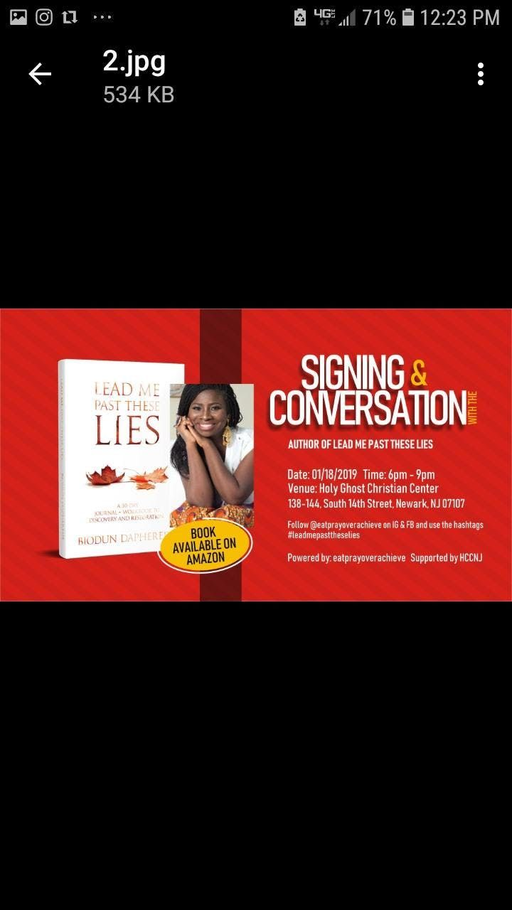 Book Signing & Conversation with the Author of LEAD ME PAST THESE LIES