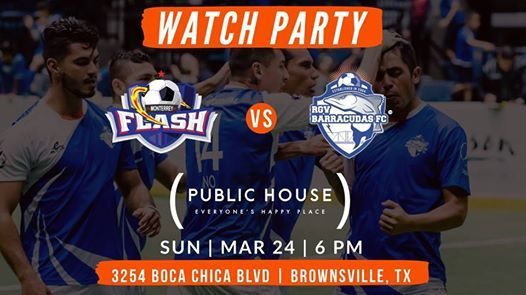 Watch Party  Monterrey Flash vs RGV Barracudas