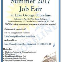 Summer 2017 Job Fair at Lake George Shoreline