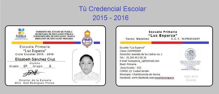 Entrega de Credencial Escolar 2015 - 2016 at Luz Esparza, Ciudad ...