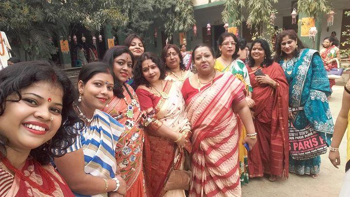 Saraswati pujo celebration
