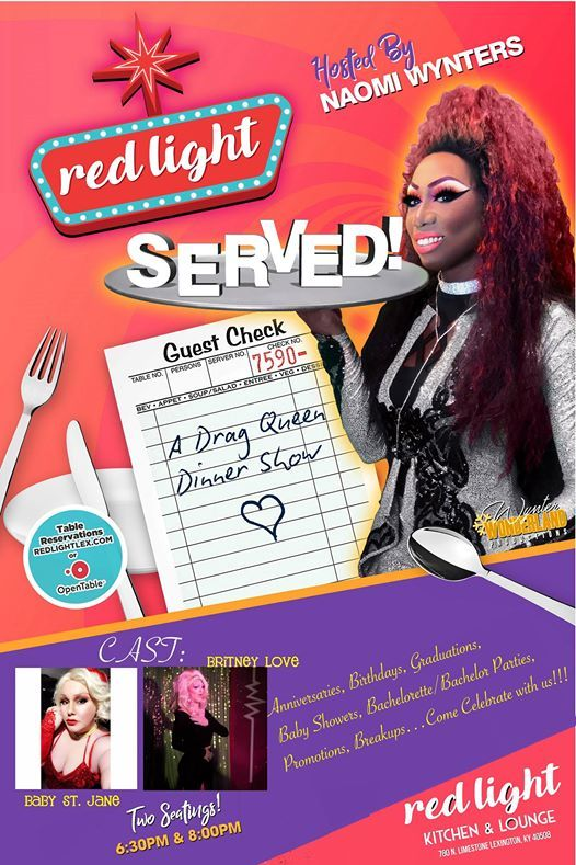 Served A Drag Dinner Show Thankful Editionnovember At Red