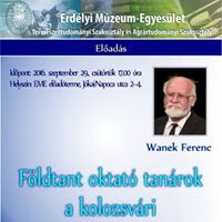 Wanek Ferenc Fldtant oktat tanrok a kolozsvri Tudomnyegyet