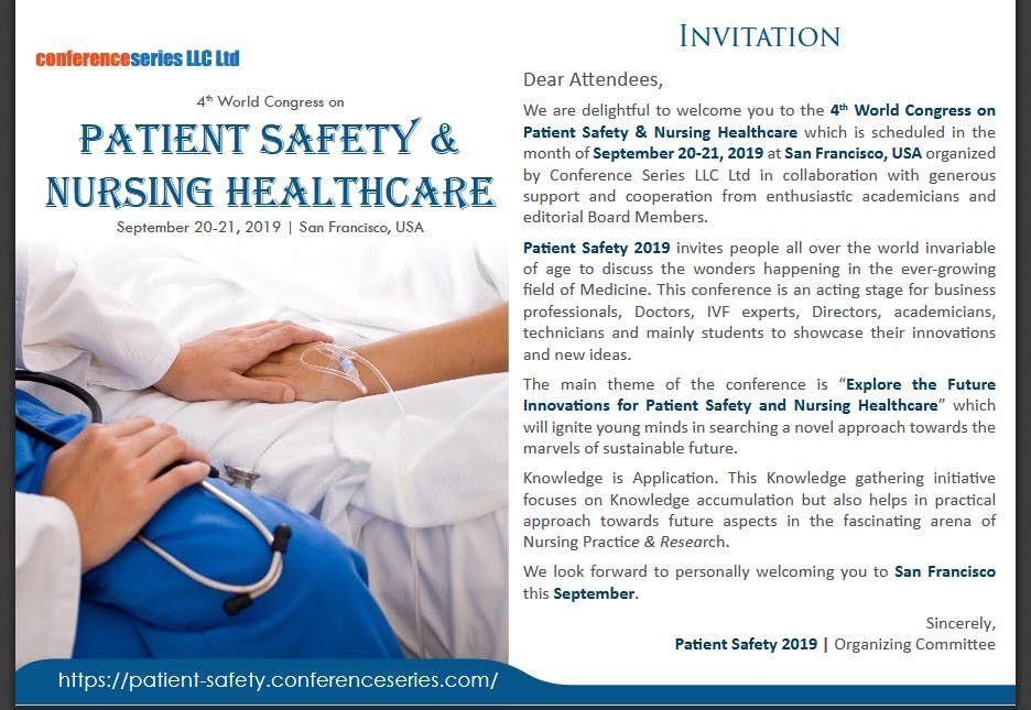 4th World Congress on Patient Safety & Nursing Healthcare (CSE)