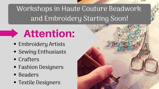 Tambour Embroidery and Beadwork Class
