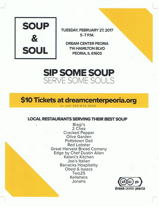 sip some soup serve some souls - Olive Garden Peoria Il
