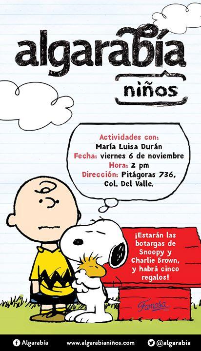Charlie y Snoopy con Algarabía at Algarabia Revista Que Genera ...