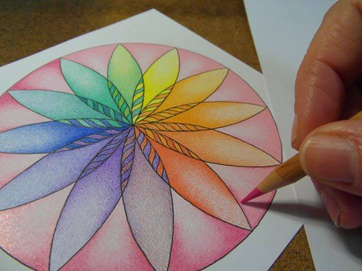 Mandala kleuren tekenen