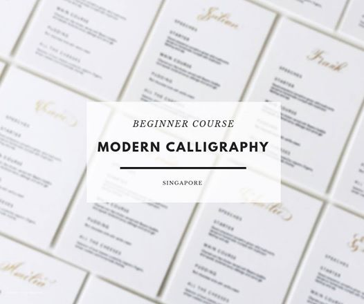 Beginner Modern Calligraphy Course - Singapore