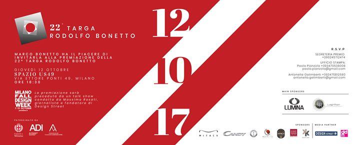 Cerimonia premiazione 22 Targa Rodolfo Bonetto