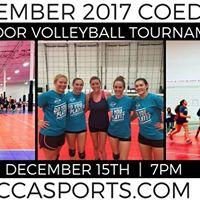 December 2017 Coed 6s Indoor Volleyball Tournament