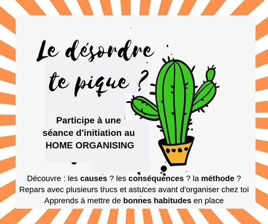 Sance dinitiation au Home Organising