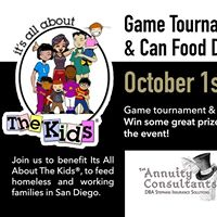 Charity Game Tournament &amp Food Drive