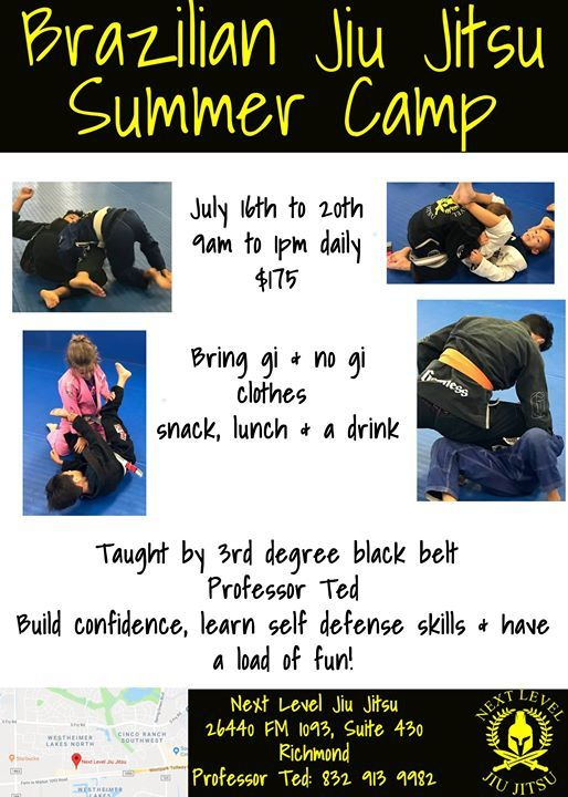 Summer Camp 2 at Next Level Jiu Jitsu Katy, Richmond