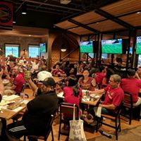Black Harts Watch Party At Creatwood With Red Brick