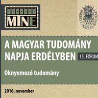 A Magyar Tudomny Napja Erdlyben 15. frum - plenris eladsok