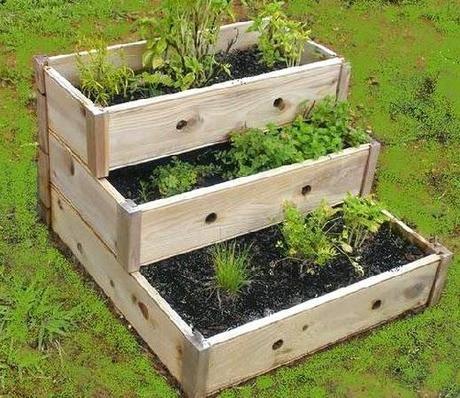 Taller de huerto organico medicinal y culinario para casa for Jardineras de hormigon baratas
