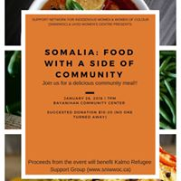 Somalia (Refugee Fundraiser) Food With A Side of Community