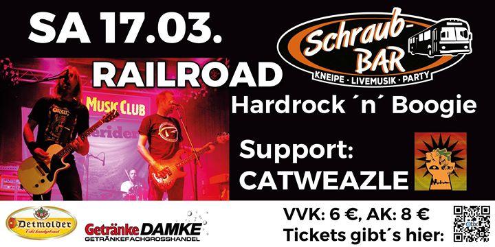 Konzert: Railroad, Support: Catweazle at Schraub-Bar, Bückeburg