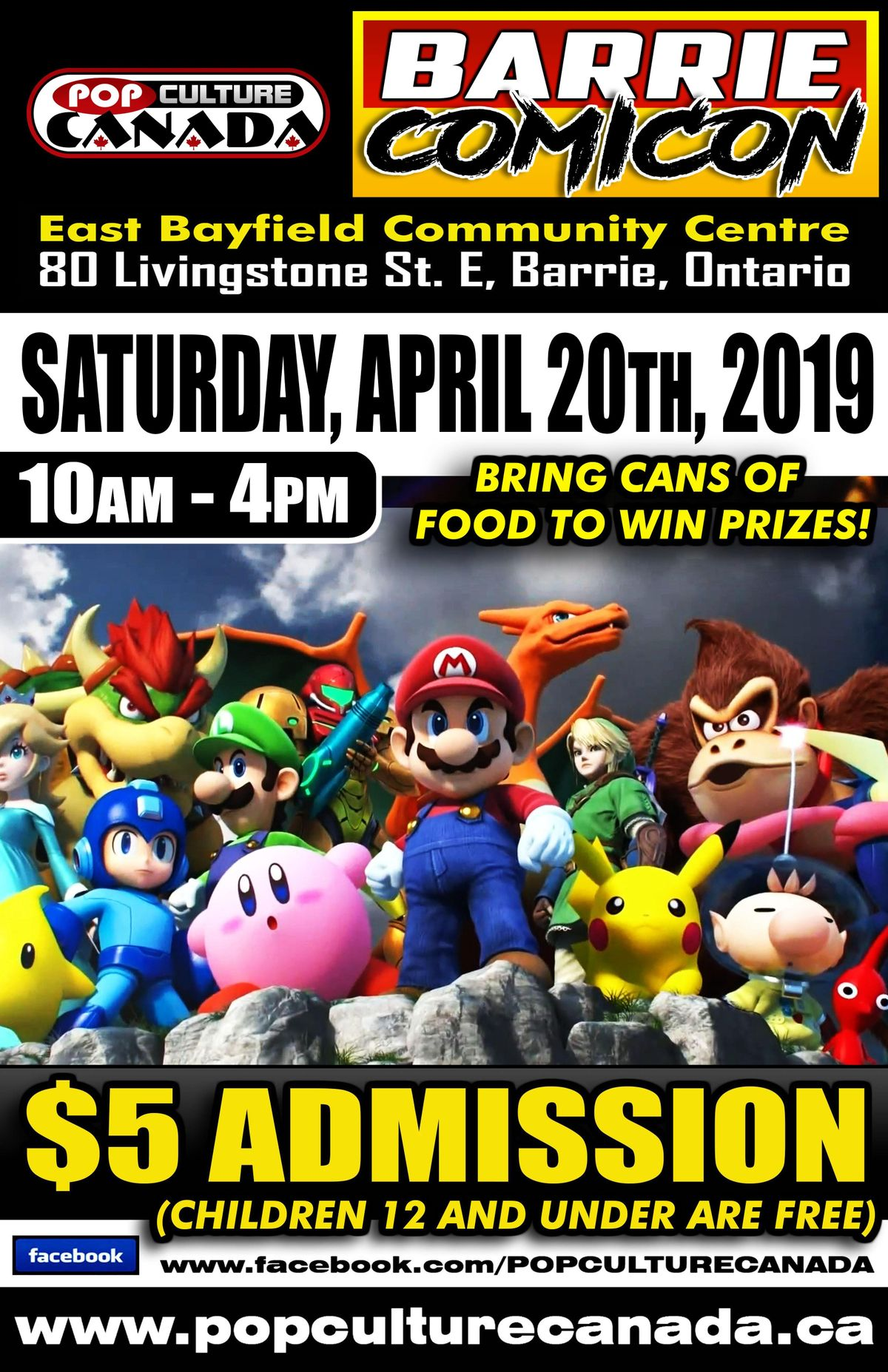 Barrie ComiCon April 20 2019 Comic Con at East Bayfield Community