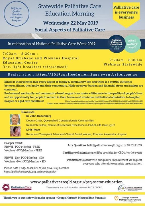 2019 State Wide Palliative Care Education Morning