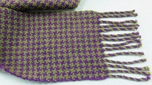Houndstooth Check Scarf on a Rigid Heddle Loom