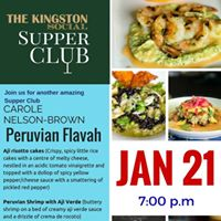 Peruvian Social Supper Club with Carole Nelson Brown