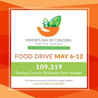 Mayors Day of Concern Food Drive at the Market