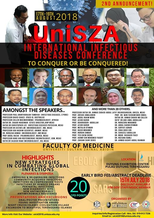 UniSZA International Infectious Diseases Conference 2018