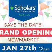Grand Opening Scholars Newmarket