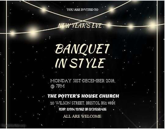New Years Eve Banquet