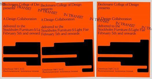 84be7ccaf775 In Transit – Beckmans på Stockholm Furniture Fair at Stockholm Furniture  FairMässvägen 1, 125 80 Stockholm, Sweden, Huddinge