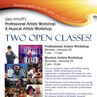 OPEN Musical Acting Class - Saturday January 20 2 - 6 pm