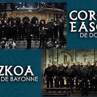 Concert du Coro Easo et Aizkoa  Pampelune