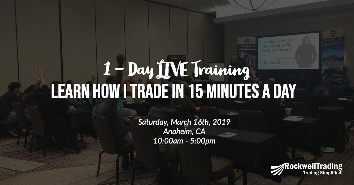Learn How I Trade In Just 15 Minutes A Day - CA March 16th