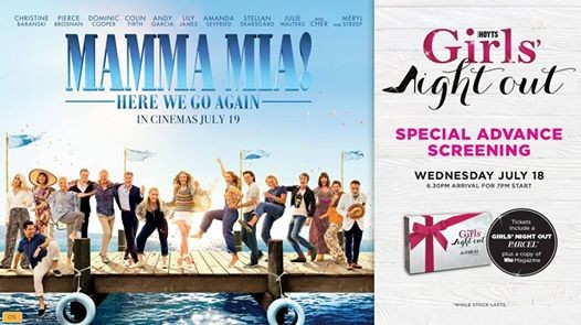 Girls Night Out Mamma Mia Here We Go Again