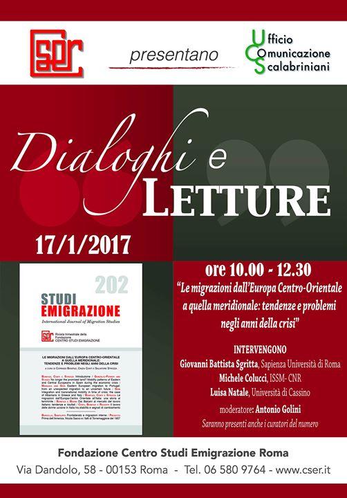 Dialoghi e Letture 17012017 ore 10.00 -12.30