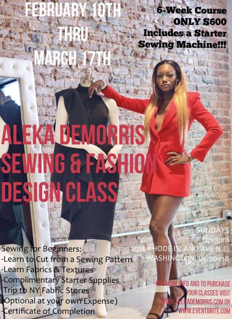 Aleka Demorris Sewing & Fashion Design Class