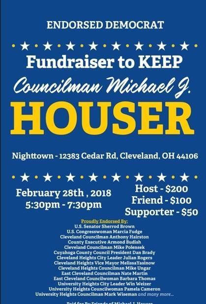 Fundraiser to KEEP County Councilman Michael J. Houser