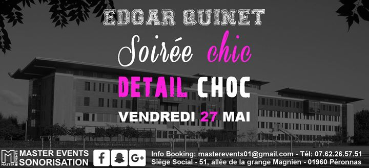 soir e chic d tail choc lyc e edgar quinet vendredi 27 mai at salle des f tes de bourg en. Black Bedroom Furniture Sets. Home Design Ideas