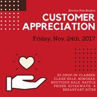 Revolve Pole Studios Customer Appreciation