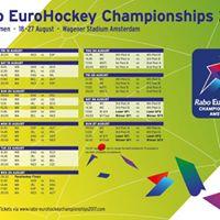 NHC bij opening Rabo Eurohockey Championships 2017
