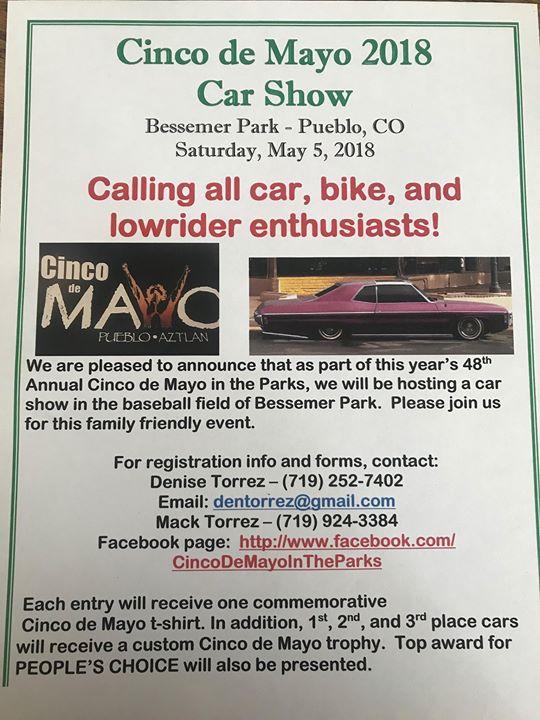 Cinco De Mayo Car Show At Bessemer Park Pueblo - Pueblo car show