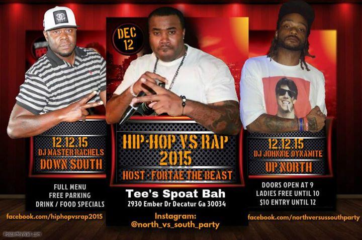 Hip Hop Vs Rap - Dj Battle - Up North Vs Down South at Tee's