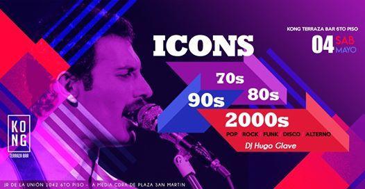 Icons Lo Mejor Del Pop Rock At Kong Terraza Bar Lima
